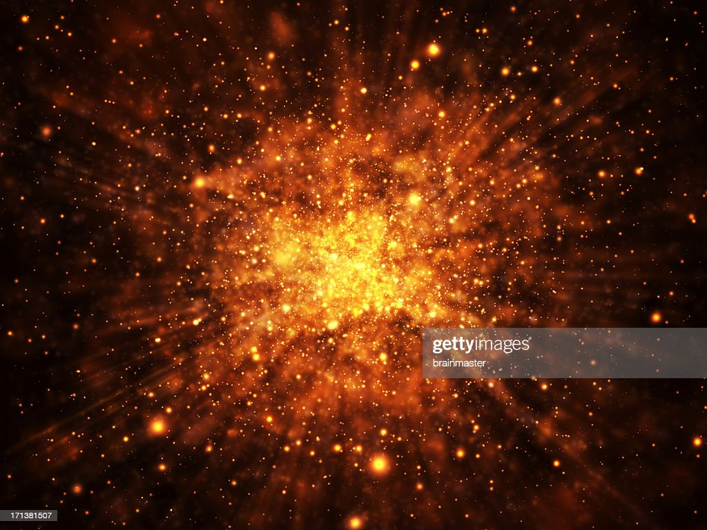 Glowing Explosion Background : Stock Photo