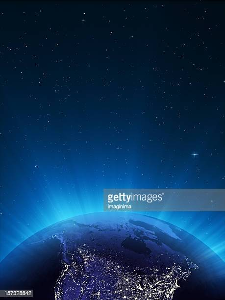 Glowing Globe at Night Series - Canada.