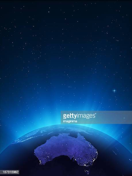Glowing Globe at Night Series - Oceania