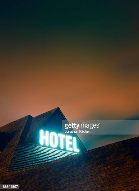 Glowing Hotel Sign