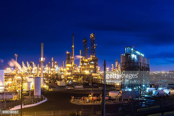 Glowing Oil Refinery