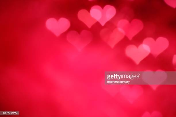 glowing pink hearts - valentine's day holiday stock pictures, royalty-free photos & images