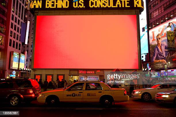 Glowing screen in Times Square, New York, New York, USA, 3 July 2010