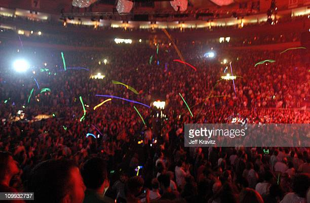Glowsticks during Phish New Years Eve Concert at Madison Square Garden in New York City New York United States