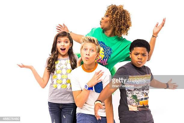 GloZell Green Cree Cicchino Thomas Kuc and Benjamin Flores Jr at GloZell Festival with GloZell Green at YouTube Space LA on September 12 2015 in Los...