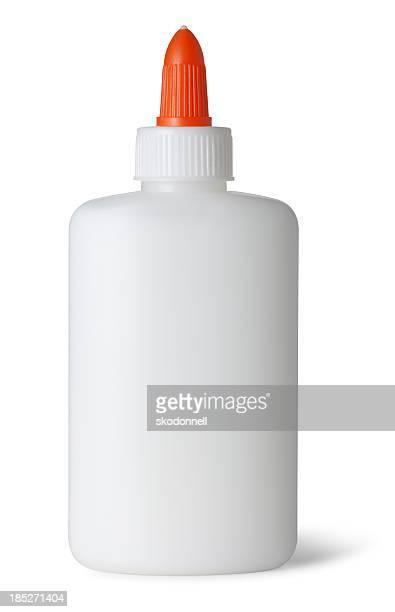 Glue Bottle on White
