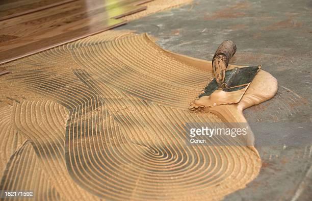 Geklebte-Holzboden: Thinset Stößel und Kelle-Handwerk und Garten