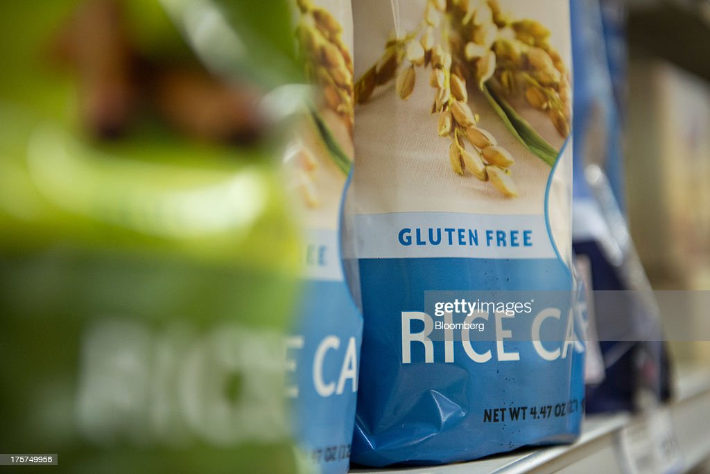'Gluten Free' appears on the packaging for PepsiCo Inc. Quaker brand rice cakes displayed for sale at a supermarket in Princeton, Illinois, U.S., on Wednesday, Aug. 7, 2013. The Food and Drug Administration (FDA) is issuing a final rule to define the term 'gluten-free' when voluntarily used in food labeling, according to a notice published in the Aug. 5 Federal Register. Photographer: Daniel Acker/Bloomberg via Getty Images