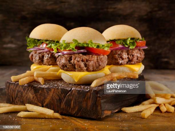 gluten free beef sliders and gluten free buns - ground beef stock pictures, royalty-free photos & images
