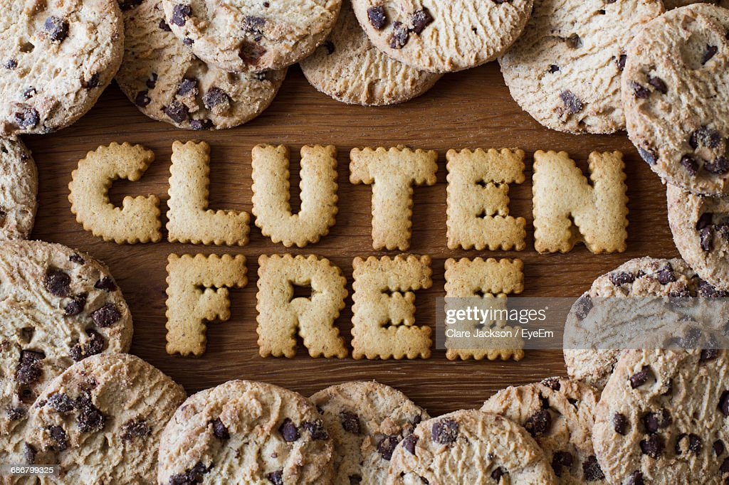 Gluten Free Text Made Out Of Cookies : Stock Photo