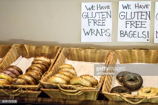 Gluten free wraps and bagels sign at Osceola Street Café