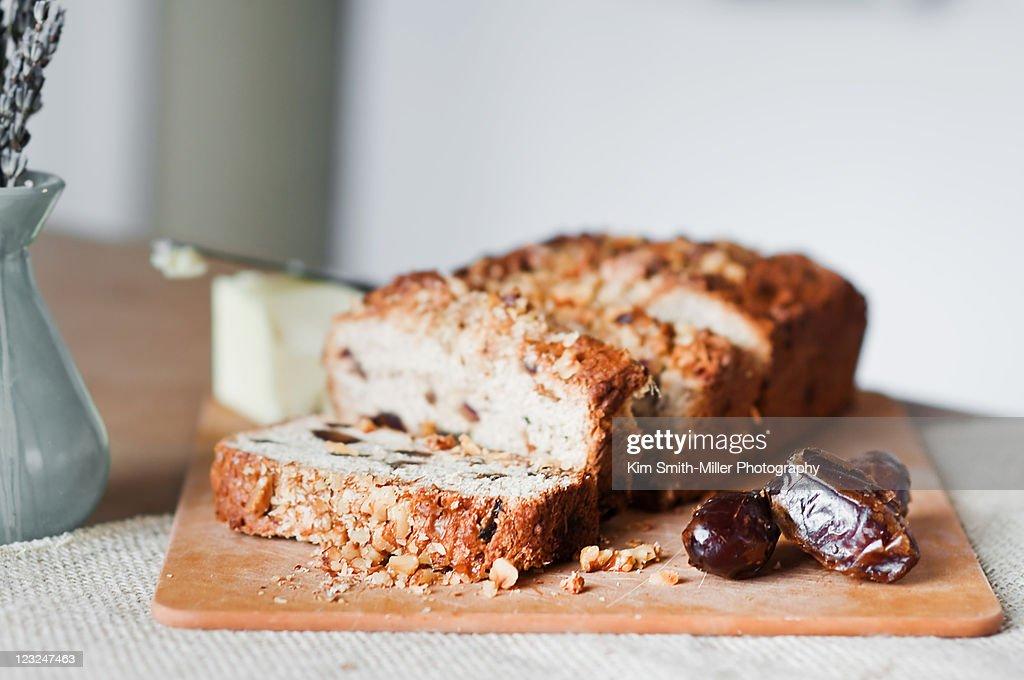 Gluten-free banana date bread : Stock Photo