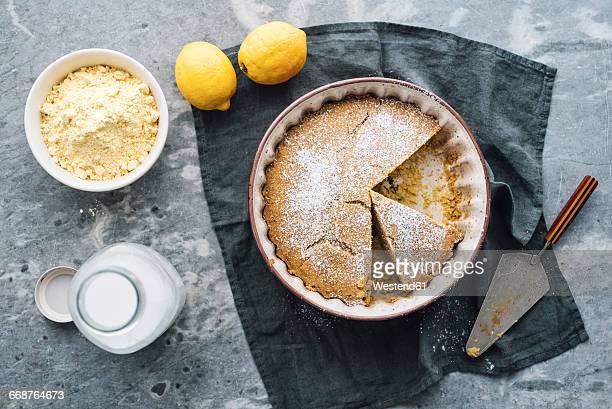 Gluten-free corn flour lemon cake