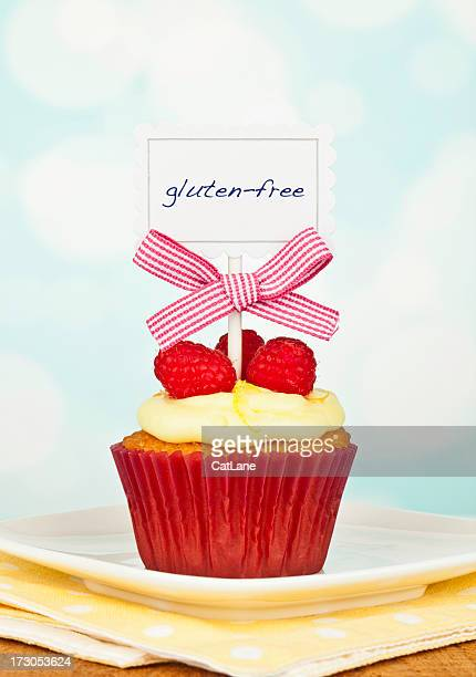 Gluten-Free Raspberry and Lemon Cupcake