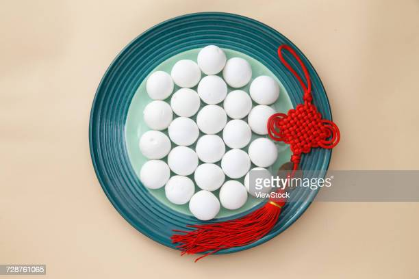 glutinous rice balls for lantern festival - chinese knotting stock pictures, royalty-free photos & images