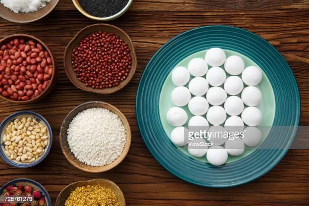 glutinous rice balls for lantern festival - 小豆 ストックフォトと画像