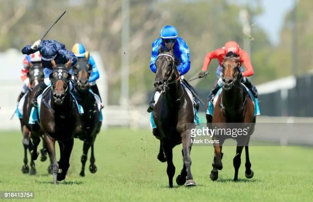 Glyn Schofield on Kementari wins race 6 during Sydney Racing at Warwick Farm on February 10 2018 in Sydney Australia