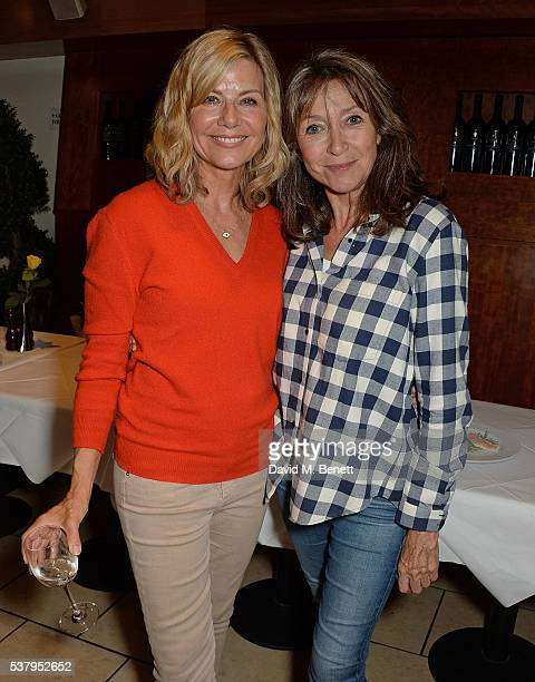 Glynis Barber and Cherie Lunghi attend the press night after party of 'Off The King's Road' at Getti's on June 3 2016 in London England