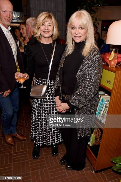 Glynis Barber and Jo Wood attend the launch of Jo Wood's new book Stoned Photographs Treasures From Life With The Rolling Stones at The Standard...