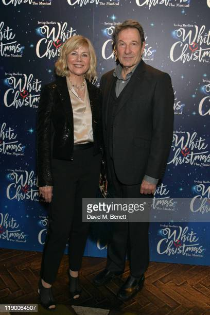 Glynis Barber and Michael Brandon attend the press night after party for White Christmas at The Mandrake Hotel on November 25 2019 in London England