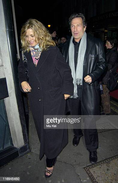 Glynis Barber and Michael Brandon during Michael Brandon and Glynis Barber Sighting at the Ivy Restaurant in London November 17 2005 at The Ivy...