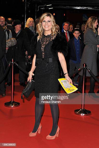 Glynis Barber attends the opening night of the theatre production 'Singin' In The Rain' at Palace Theatre on February 15 2012 in London England