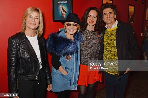 Glynis Barber Lulu Sally Wood and Ronnie Wood attend the press night after party for Wasted at the Southwark Playhouse on September 12 2018 in London...