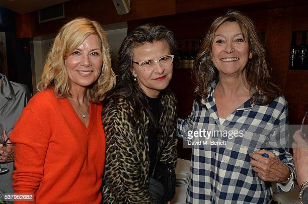 Glynis Barber Tracey Ullman and Cherie Lunghi attend the press night after party of Off The King's Road at Getti's on June 3 2016 in London England