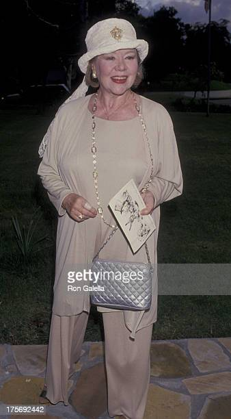 Glynis Johns attends British Council General Tea Party on March 19 1994 at Hancock Park in Los Angeles California