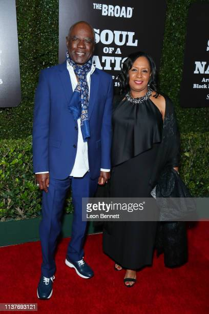 Glynn Turman and his wife JoAnn Allen attend The Broad Hosts West Coast Debut Of Soul Of A Nation Art In the Age Of Black Power 19631983 at The Broad...