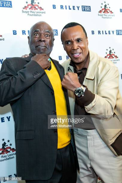 Glynn Turman and Sugar Ray Leonard attend Sugar Ray Leonard Foundation's 10th Annual 'Big Fighters Big Cause' Charity Boxing Night at The Beverly...