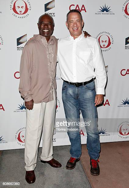 Glynn Turman and Tom Hanks attend the 26th Annual Simply Shakespeare Benefit at Freud Playhouse UCLA on September 19 2016 in Westwood California