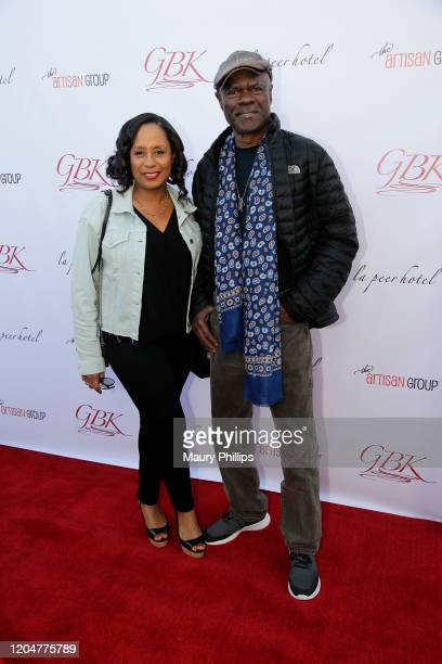 Glynn Turman and wife JoAnn Allen arrive at GBK Pre Oscar Gift Lounge at Kimpton La Peer Hotel on February 07 2020 in West Hollywood California