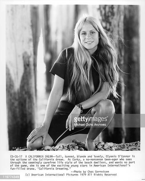 Glynnis O'Connor in wetsuit in a scene from the film 'California Dreaming' 1978