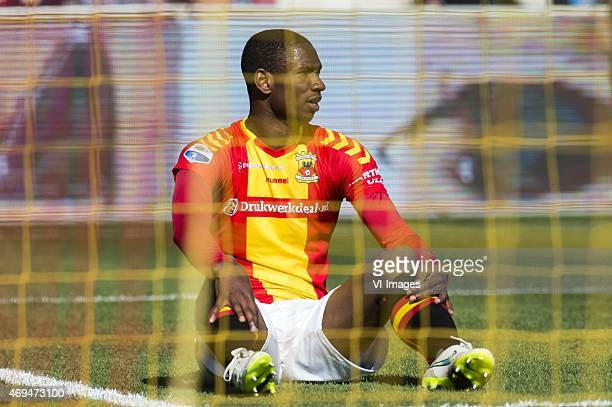 Glynor Plet of Go Ahead Eagles during the Dutch Eredivisie match between Go Ahead Eagles and FC Twente at The Adelaarshorst on April 12 2015 in...