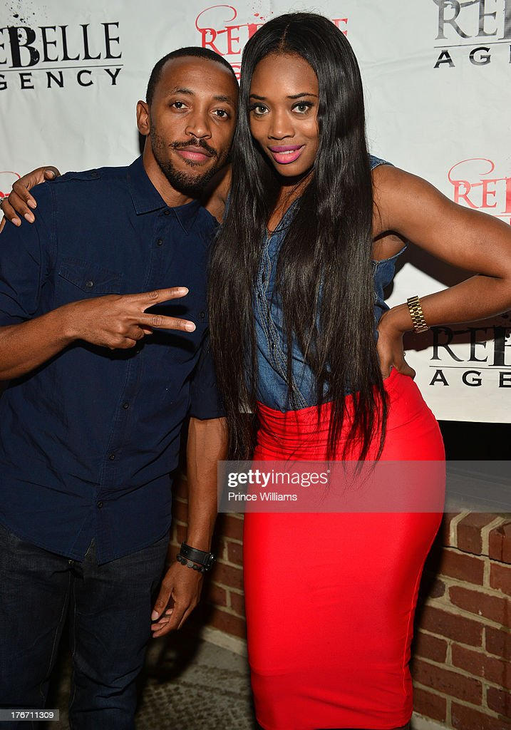 G-Mack and Yandi Smith attend the Host Rebelle Agency PR Launch party at La Mongerie on August 16, 2013 in Atlanta, Georgia.