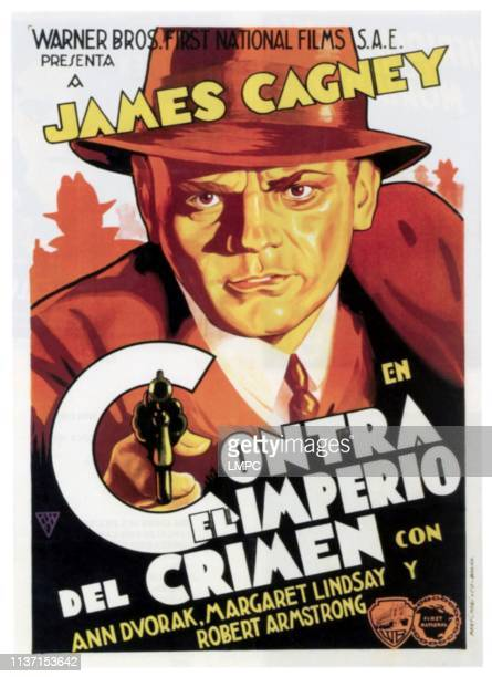 Gmen poster James Cagney on Spanish poster art 1935