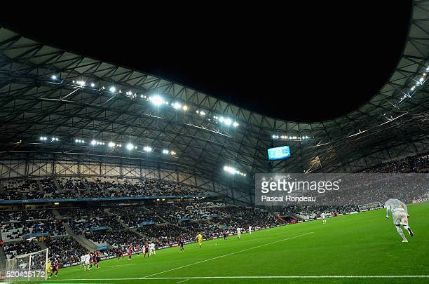 Général view of the Stade Vélodrome de Marseille during the French League 1 match between Olympique de Marseille and FC Girondins de Bordeaux at...