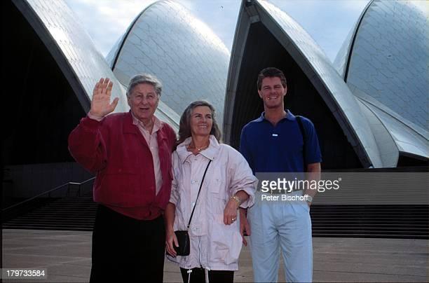 Günter Pfitzmann Ehefrau Lilo und SohnRobert 1993 Sydney / Australien