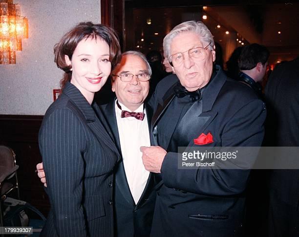 Günter Pfitzmann, Michele Marian mit Vater;Edwin, Telestar-Verleihung, Köln,