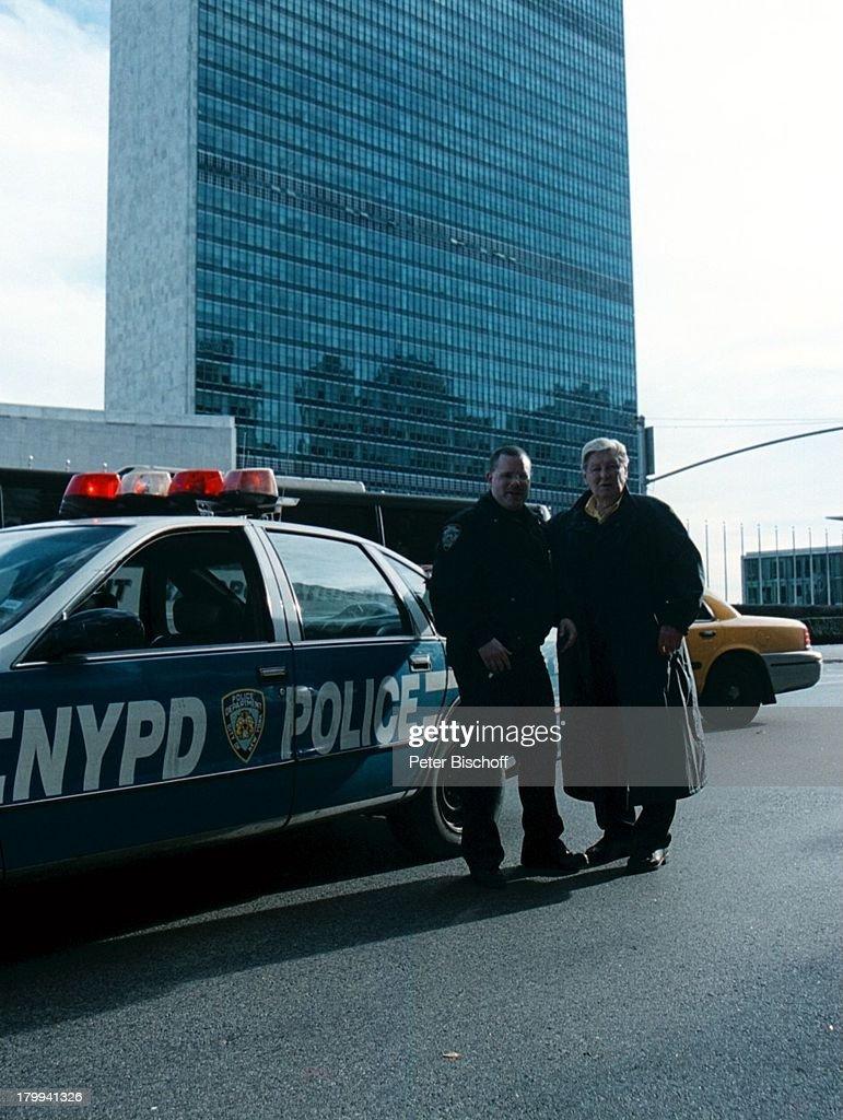 Günter Pfitzmann, New York, USA, Urlaub,;Stadtbummel, Weihnachts ...