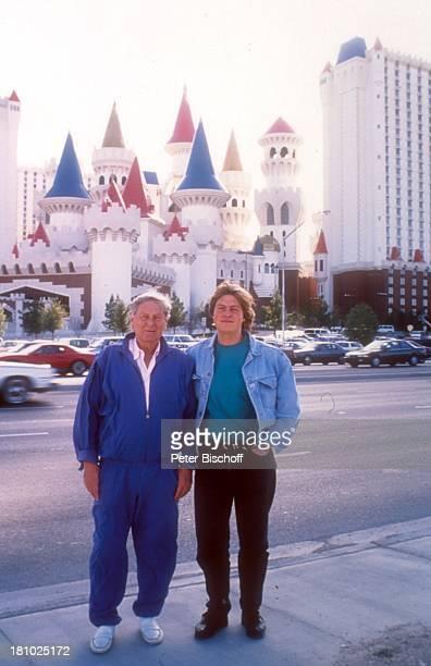Günter Pfitzmann Sohn Andreas Pfitzmann Las Vegas/Kalifornien/USA Amerika Urlaub Hotel Excalibur Burg Californien Familie Promis Prominente...
