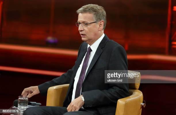 Günther Jauch in seiner ARDTalkshow GÜNTHER JAUCH am in Berlin Flüchtlingsrepublik Deutschland Ð Wo liegen unsere Grenzen
