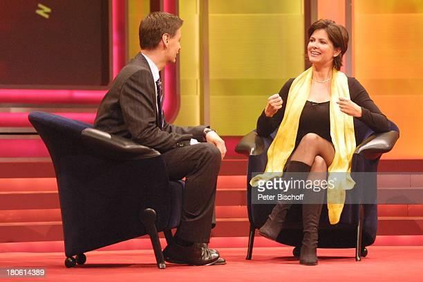 Günther Jauch Maxi Biewer RTLShow 2001 Menschen Bilder Emotionen Hürth Studio 8 Bühne Interview