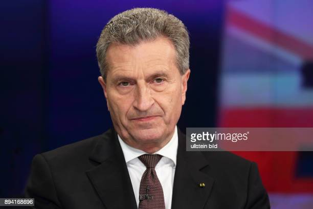 Günther Oettinger in der ZDFTalkshow maybrit illner am in Berlin Zittern vor dem Brexit Was wird aus Europa