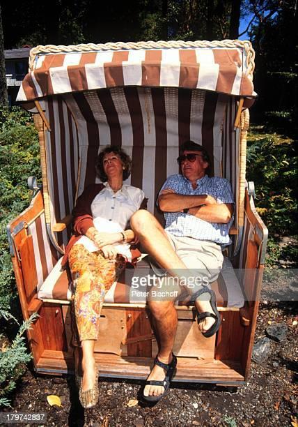 Günther Schramm mit Ehefrau Gudrun;Thielemann, Homestory, Vancouver;Island/Kanada, Meer, Wasser, Urlaub,;Strandkorb,