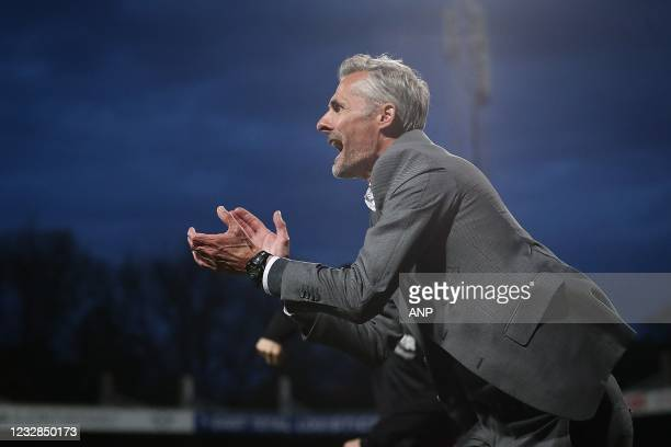 Go Ahead Eagles coach Kees van Wonderen celebrates the 0-1 of Bas Kuipers or Go Ahead Eagles during the Dutch Kitchen champion division match between...