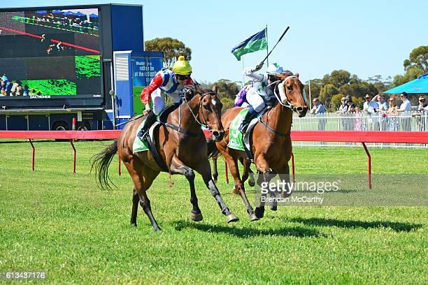 Go And Get Rich ridden by Anna JORDSJO wins Emmetts Swan Hill BM52 Handicap at Manangatang Racecourse on October 08 2016 in Manangatang Australia
