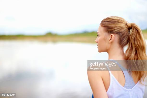 go be alone with your thoughts - ponytail stock pictures, royalty-free photos & images
