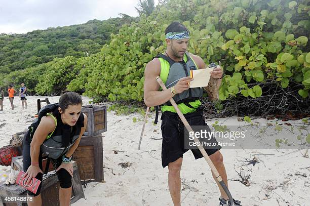 Go Big Or Go HomeIn this Road Block Wrestlers Brooke and Robbie must find Blackbeard's treasure using a shovel a compass and the provided coordinates...